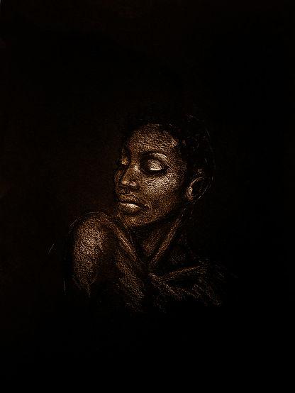Dessin feme noire