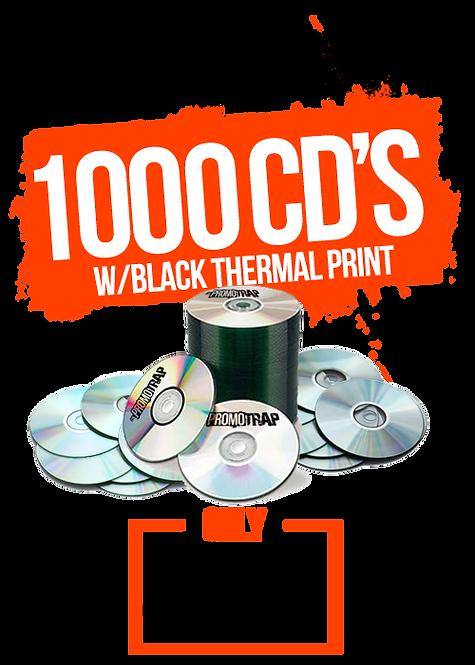 1000 CD'S W/ THERMAL PRINT