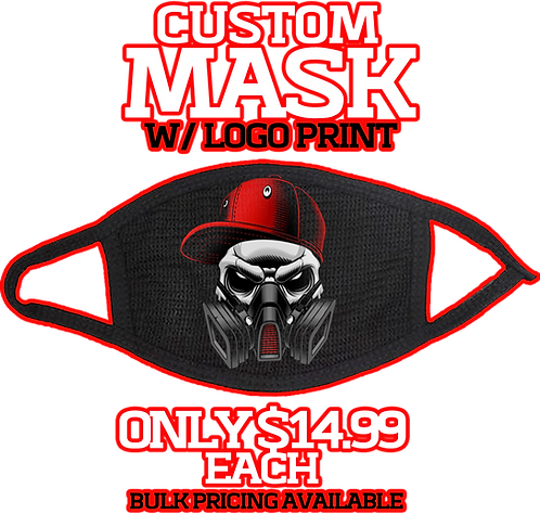 Custom Mask w/ Logo Print