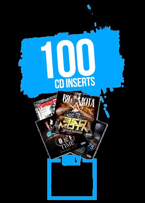100 CD INSERTS