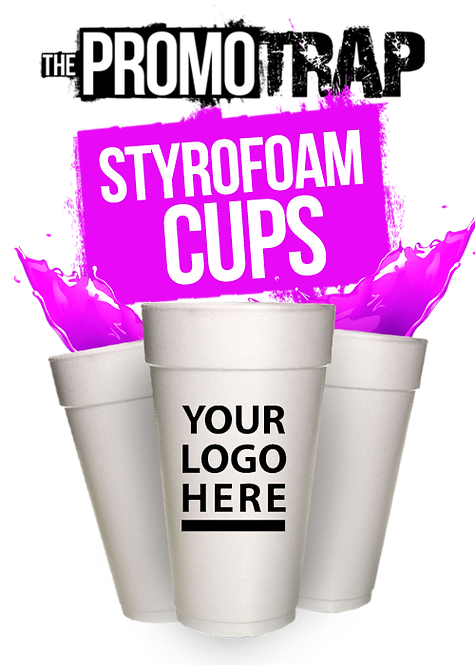 1000 Custom Styrofoam Cups (24oz)