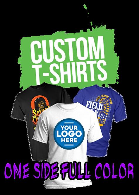 100 Custom Printed T- Shirt (Full Color)