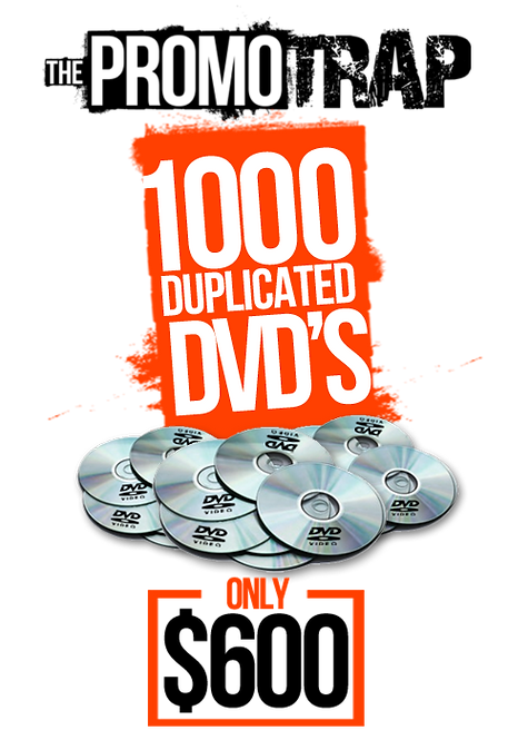 1000 DVD'S WITH THERMAL PRINT