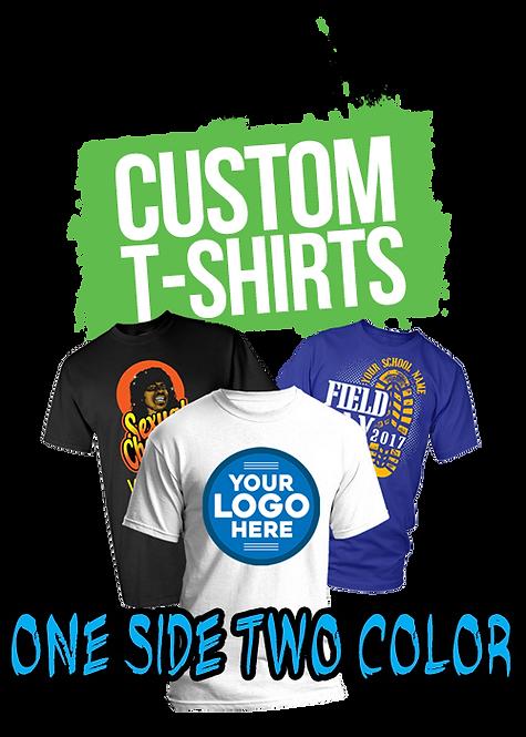 100 Custom Printed T- Shirt (Two Color)