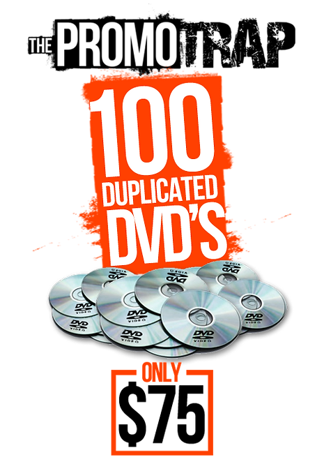 100 DVD'S WITH THERMAL PRINT