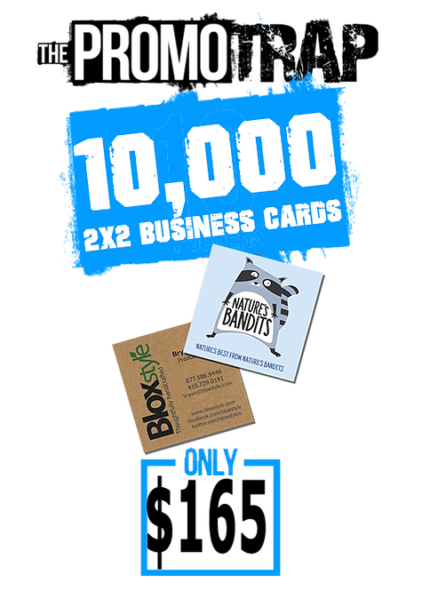 10,000 2x2 Business Cards