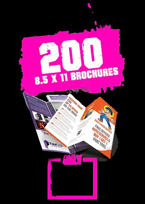 200 8.5x11 Brochures