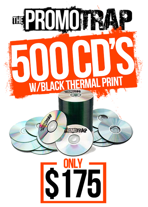 500 CD'S W/ THERMAL PRINT