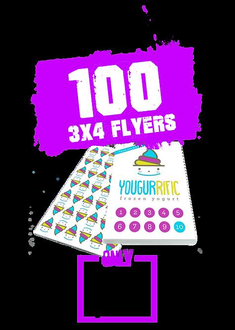 100  3x4 Flyer