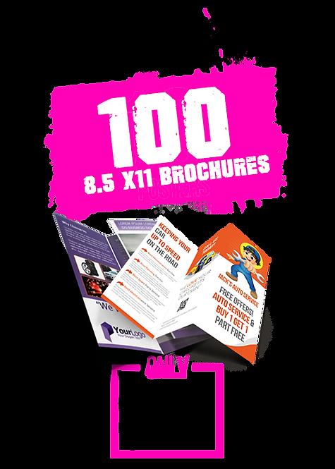 100 8.5x11 Brochures