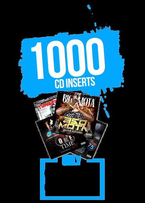 1000 CD INSERTS