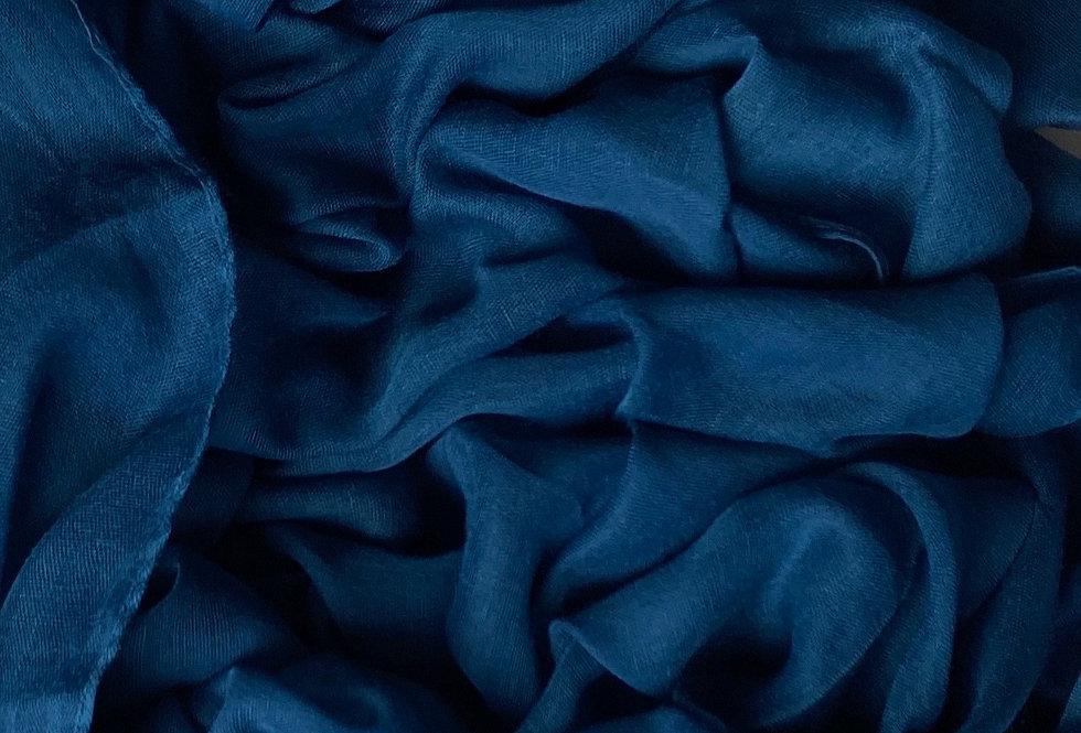 Plain Hijab in Prussian Blue