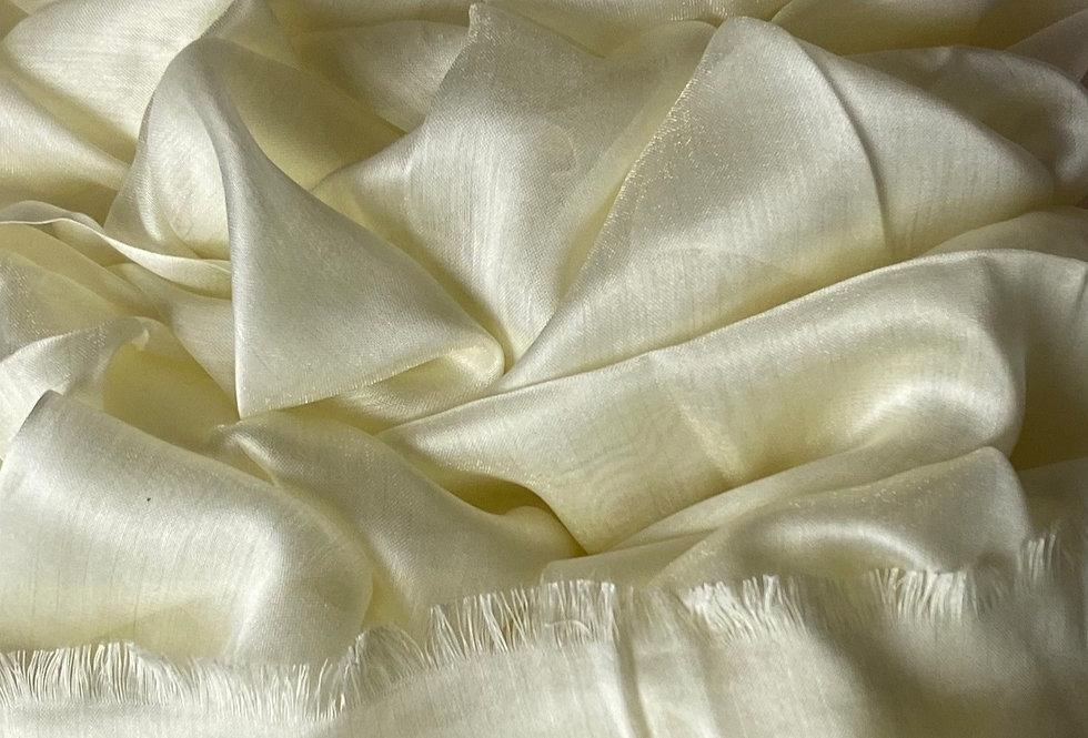 Silk Hijab in Cream