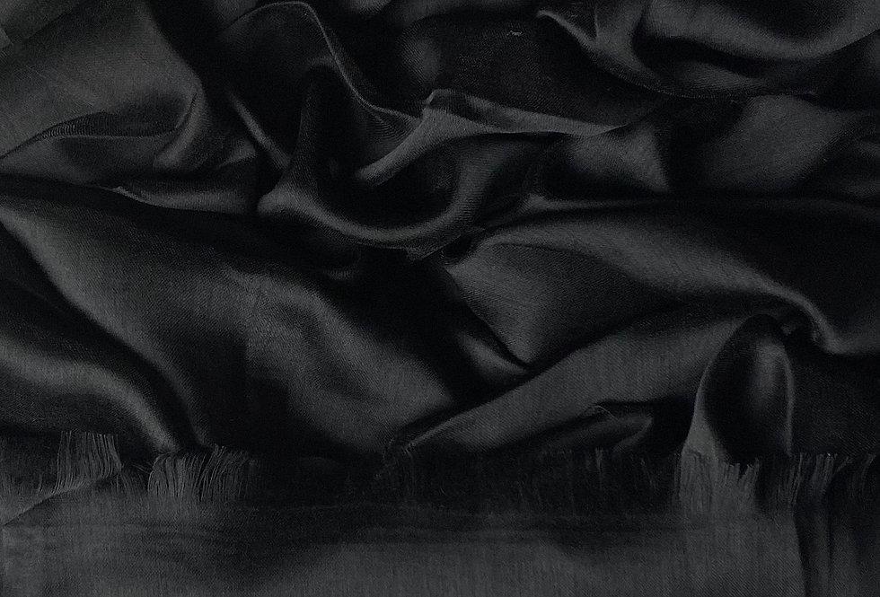 Silk Hijab in Black