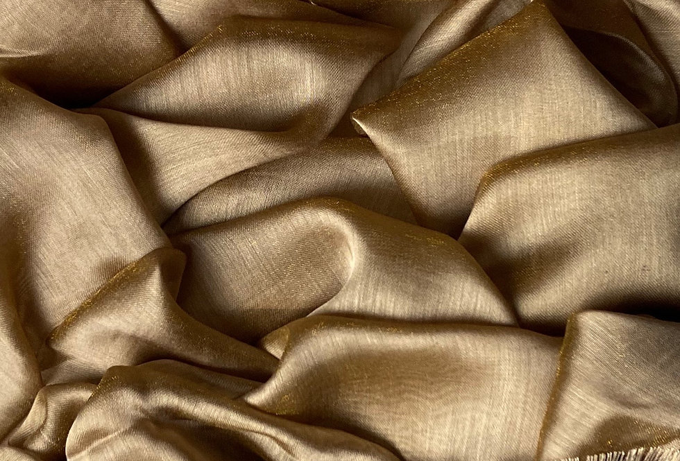 Silk Hijab in Bronze