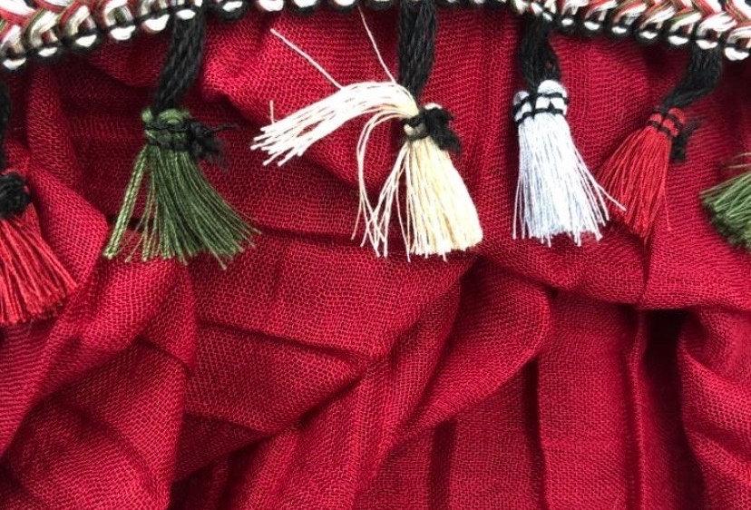 Tassel Hijab in Red