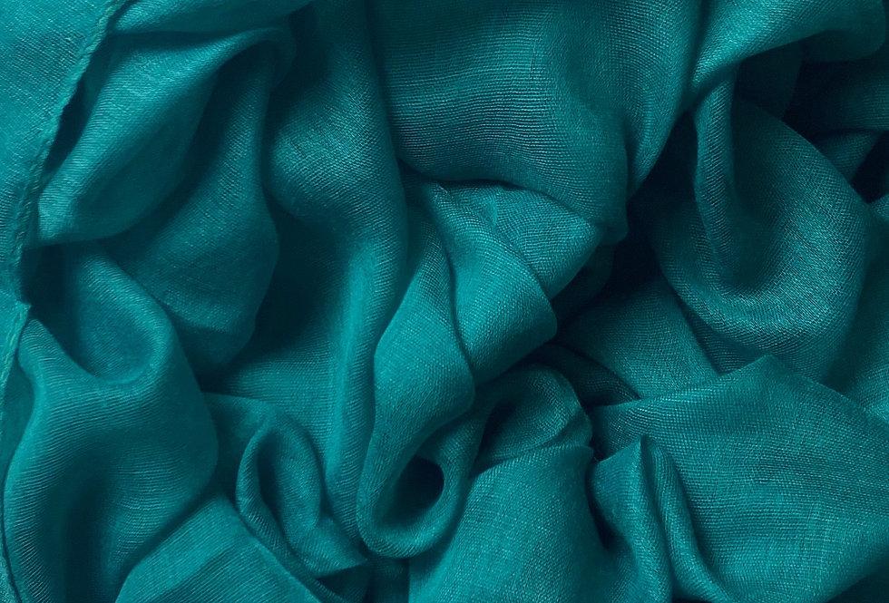 Plain Hijab in Teal Green