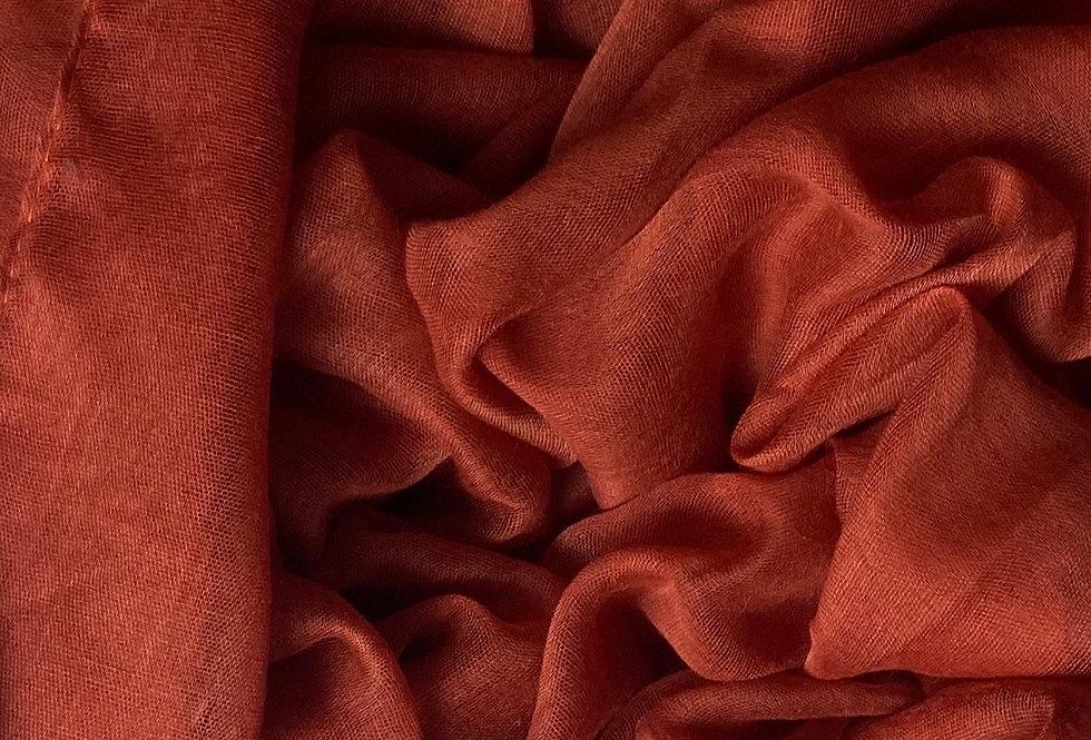 Plain Hijab in Burnt Orange