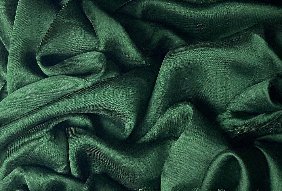 Silk Hijab in Bottle Green
