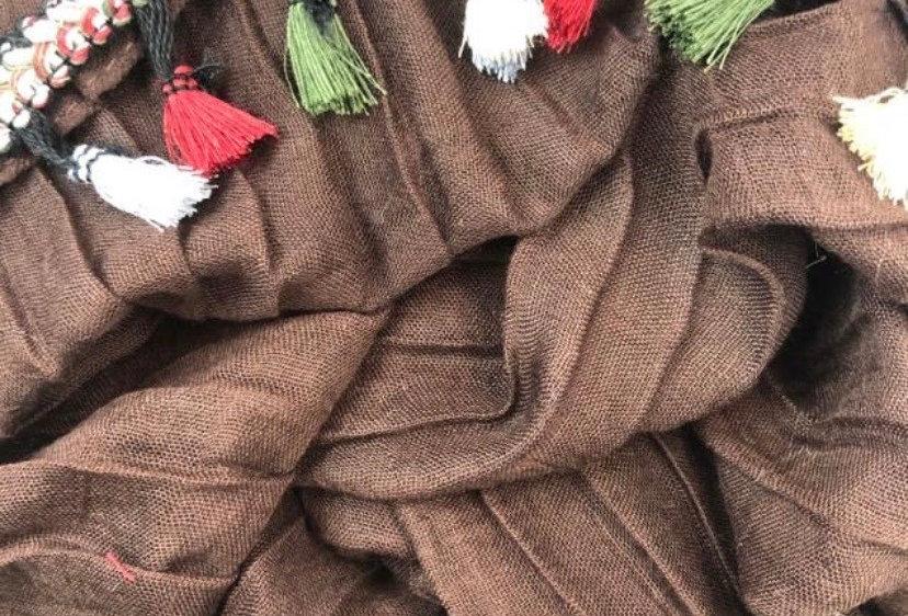 Tassel Hijab in Brown