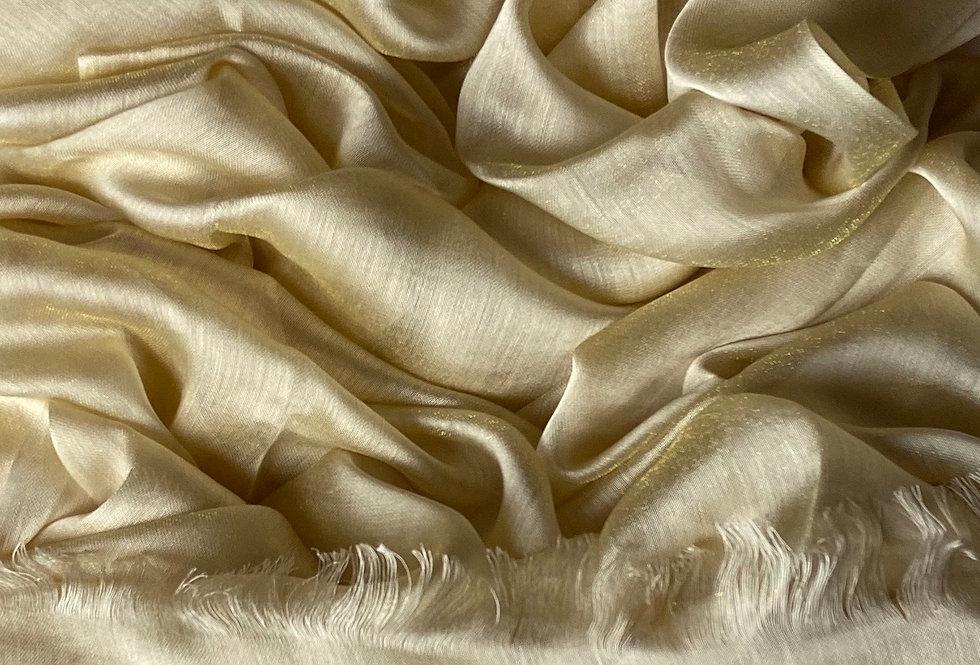Silk Hijab in Light Gold