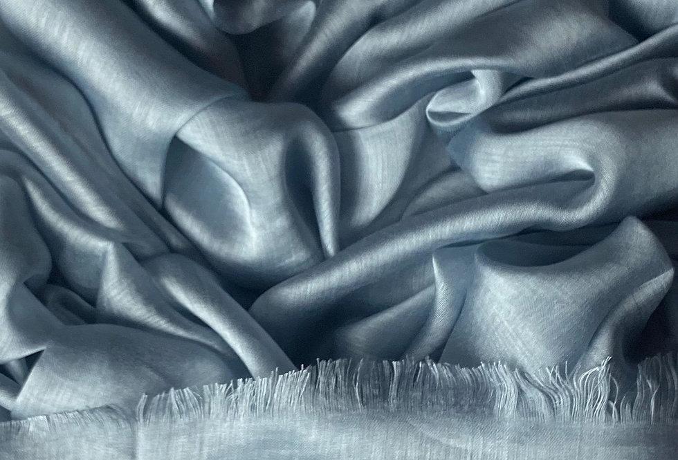 Silk Hijab in Silver