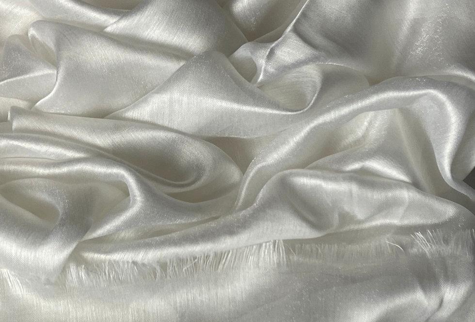 Silk Hijab in White