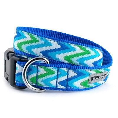 Blue Chevron Collar