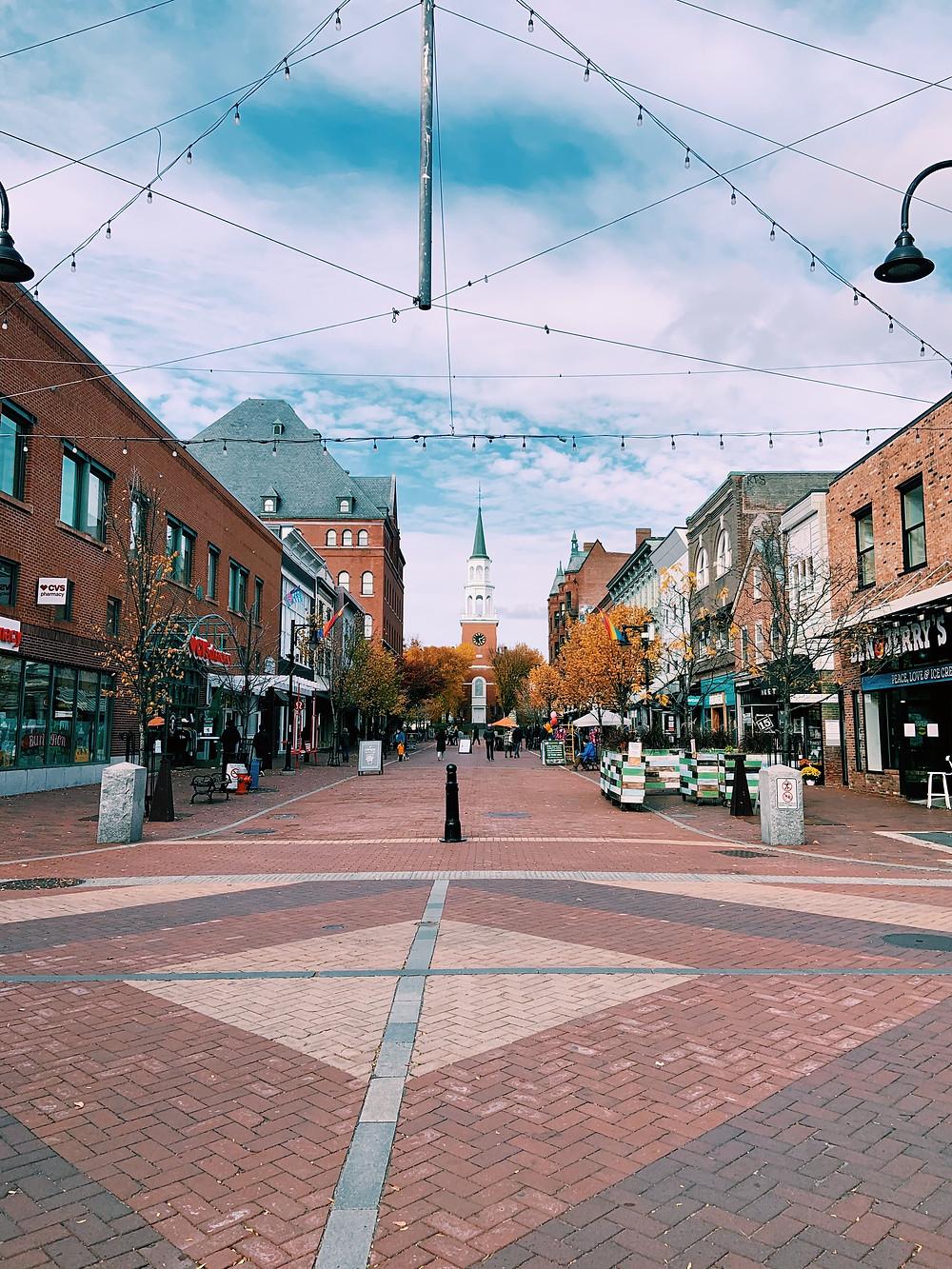 Town center, Church St. Burlington, VT