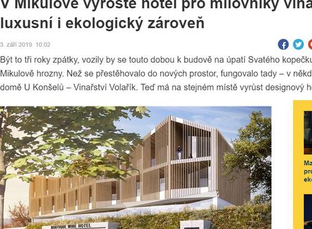 V Mikulově vyroste hotel pro milovníky vína