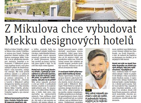 Z Mikulova bude mekka hotelů