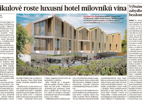V Mikulově roste luxusní hotel milovníků vína