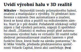 Uvidí výrobní halu v 3D realitě
