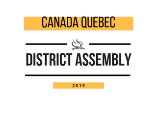 Canada Quebec District Assembly 2019