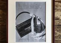 "Vintage publicity ""HERMÈS "" with frame ヴィンテージ広告""エルメス""額付き"