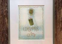 """Vintage publicity """"COTY"""" with frame"""