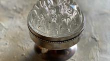 シルバークープ付きガラス花器