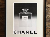 "Vintage publicity ""CHANEL"" with frame ヴィンテージ広告""シャネル""額付き"