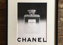 """Vintage publicity """"CHANEL"""" with frame ヴィンテージ広告""""シャネル""""額付き"""