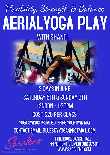 Aerial Yoga class with Shanti - Made wit