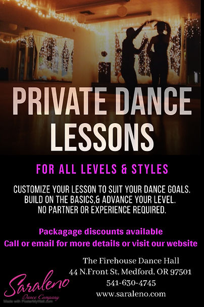 Private dance lessons - Made with Poster