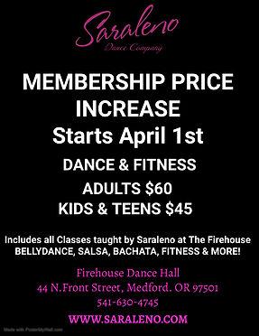 Membership Price Increase - Made with Po