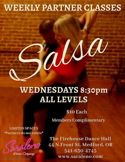 Weekly Salsa Partner Classes April - Mad