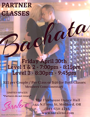 Bachata Partner Classes April - Made wit