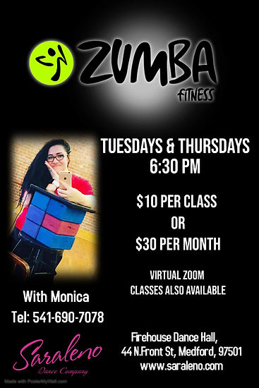 Zumba with Monica - Made with PosterMyWa
