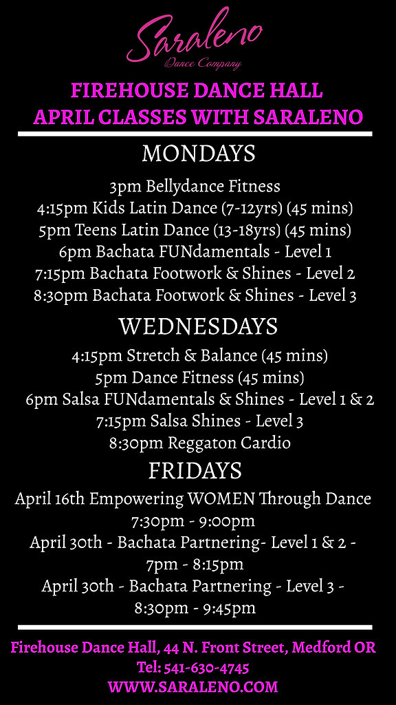 Firehouse April Schedule - Made with Pos