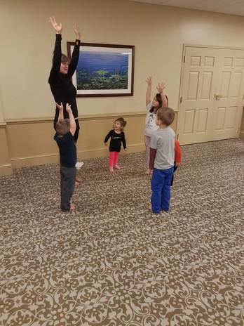 Teaching yoga to kids