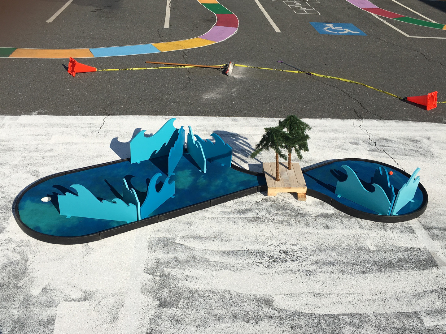 Artist  created The Art Island mini golf course for a community project in Ward 8   Building Creative