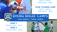 SPRING BREAK CAMPS REGISTRATION NOW OPEN!