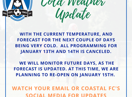 COLD WEATHER UPDATE